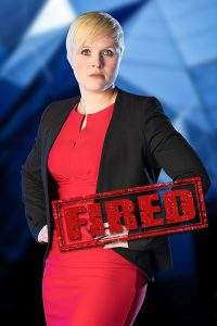 Natalie Dean - fired in week 5 (courtesy of BBC)